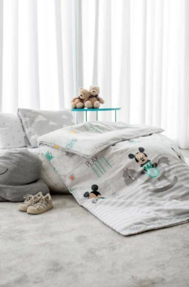 בלתי רגיל סט מצעים סדין + ציפה מיקי מי פלנל 100% כותנה למיטת תינוק WM-14
